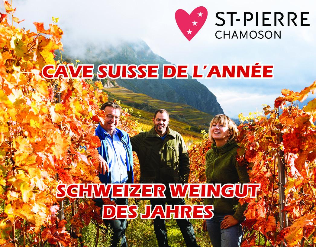 Cave St-Pierre, schweizer Weingut des Jahres!