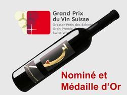 2ème rang pour la Cuvée du 3ème millénaire assemblage de cépages rouges Valais AOC 2017